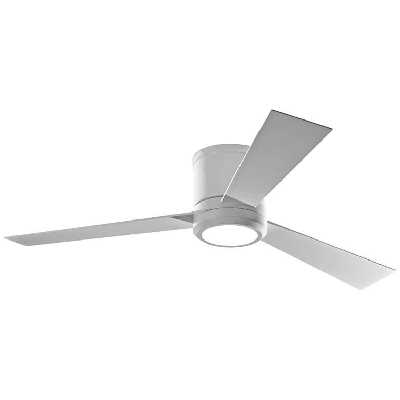 "52"" Monte Carlo Clarity Matte White Hugger LED Ceiling Fan"