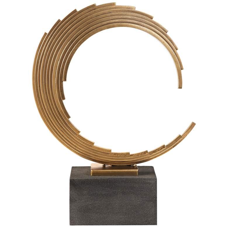 "Uttermost Saanvi 23 1/2""H Curved Antique Gold Rods Sculpture"