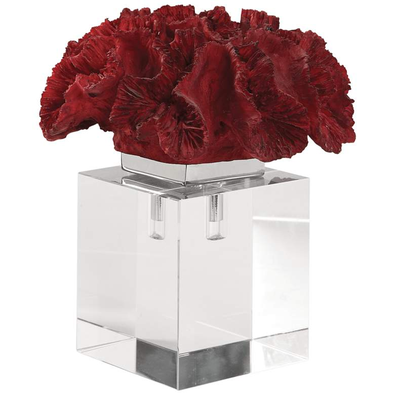 """Uttermost 7 3/4"""" High Red Coral Cluster Figurine"""