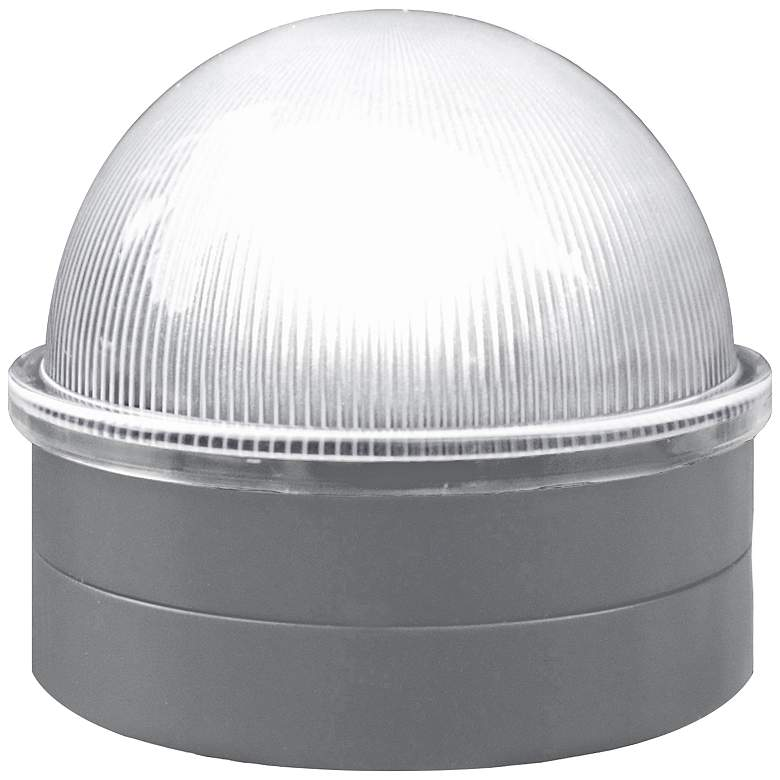"Summit 2 1/2"" High Silver Solar LED Outdoor Post Cap"