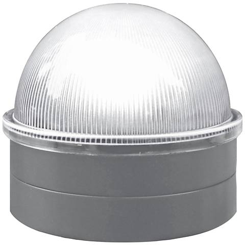 """Summit 2 1/2"""" High Silver Solar LED Outdoor Post Cap"""