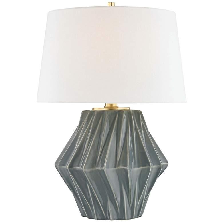 Hudson Valley Bertram Dark Gray Porcelain Table Lamp