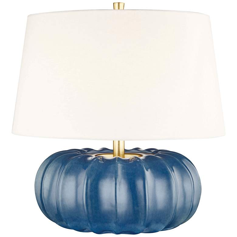"""Hudson Valley Bowdoin 19 3/4""""H Slate Blue Accent Table Lamp"""