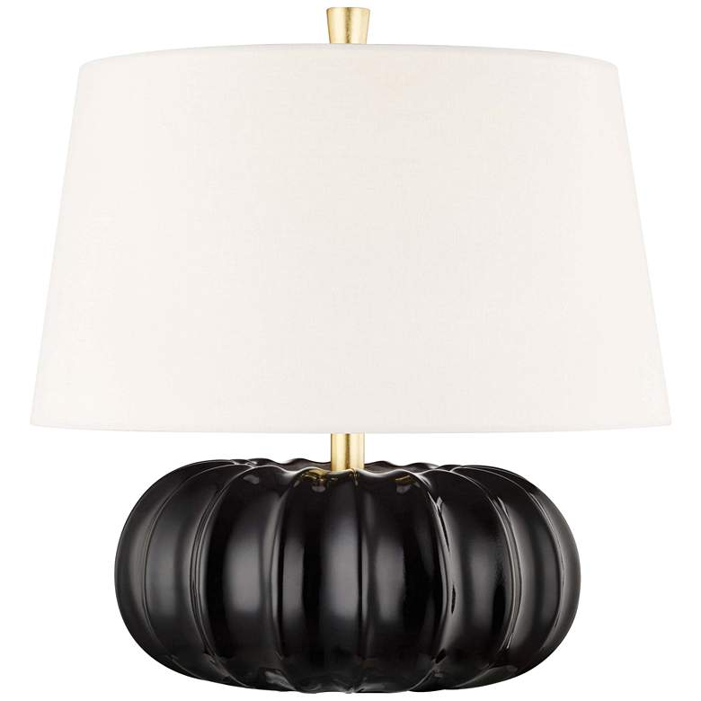 "Hudson Valley Bowdoin 14 3/4"" High Ebony Accent Table Lamp"