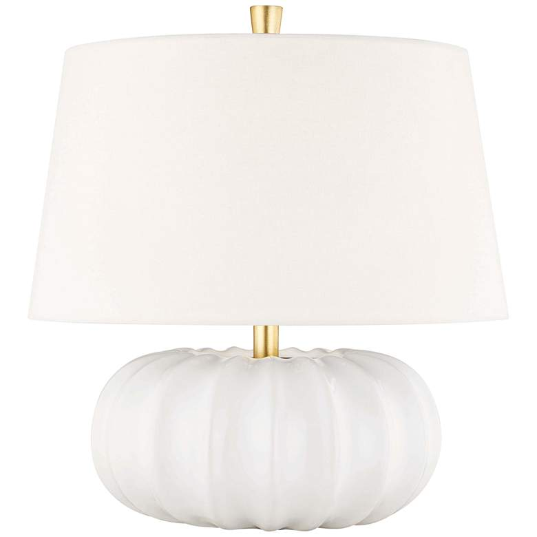 """Hudson Valley Bowdoin 14 3/4"""" High White Accent Table Lamp"""