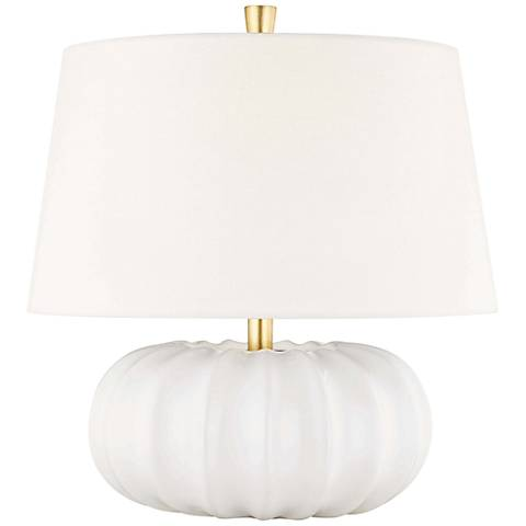 "Hudson Valley Bowdoin 14 3/4"" High White Accent Table Lamp"