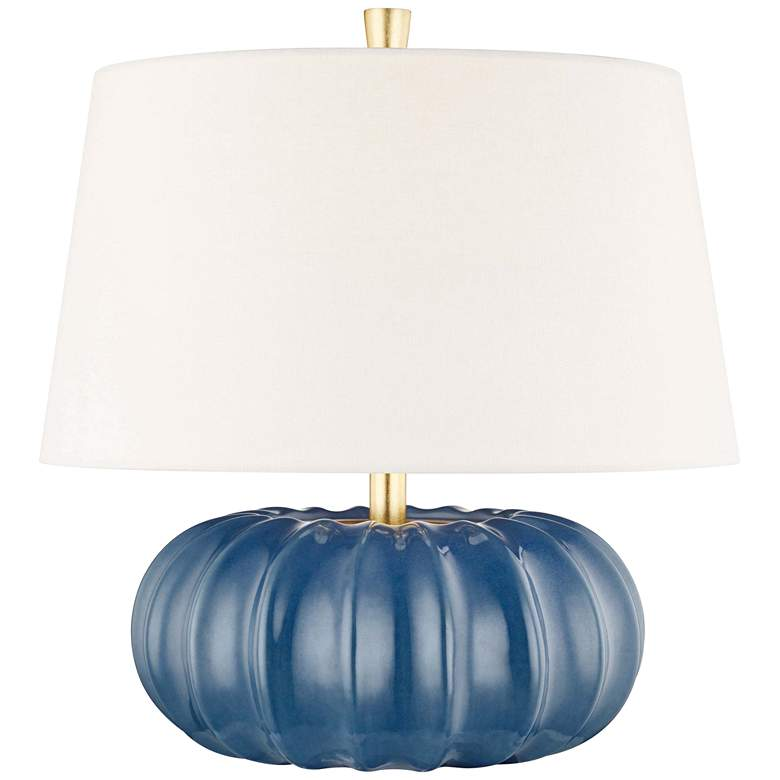 """Hudson Valley Bowdoin 14 3/4""""H Slate Blue Accent Table Lamp"""