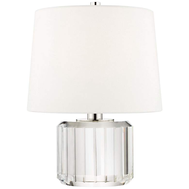 """Hudson Valley Hague 14"""" High Clear Crystal Accent Table Lamp"""