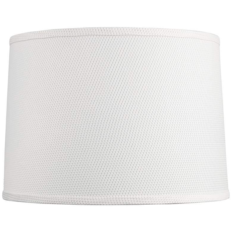 Seattle White Drum Lamp Shade 13x14x10 (Spider)