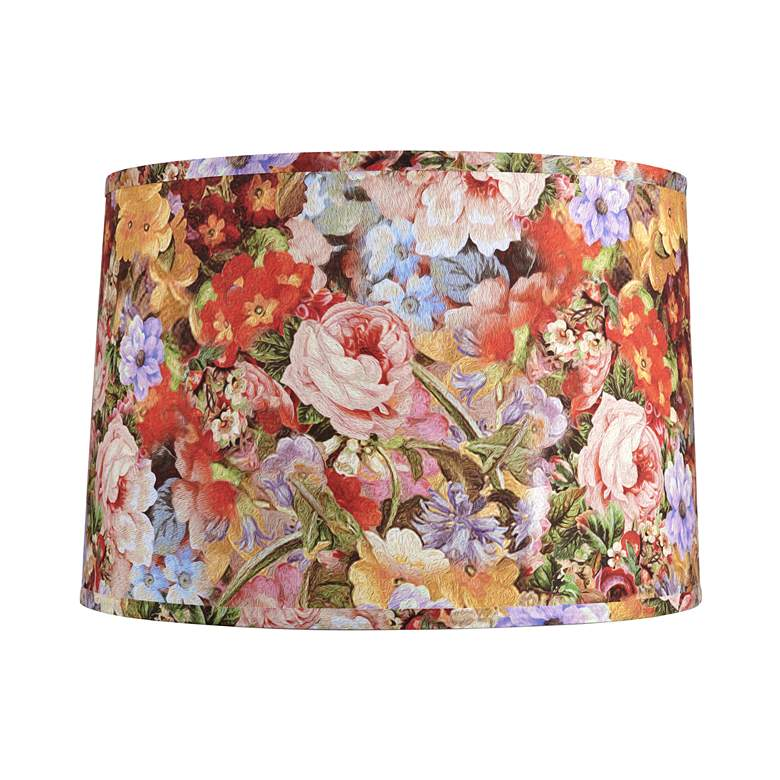 Deleon Multi-Color Floral Drum Lamp Shade 15x16x11 (Spider)