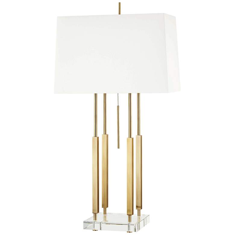 Hudson Valley Rhinebeck Aged Brass Table Lamp
