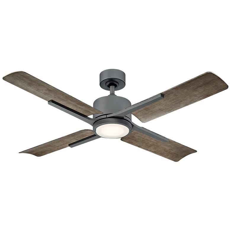 "56"" Modern Forms Cervantes Graphite LED Wet Ceiling Fan"