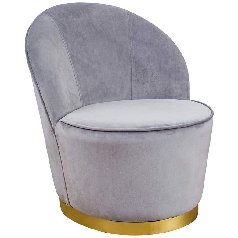Julia Gray Velvet Junior Chair