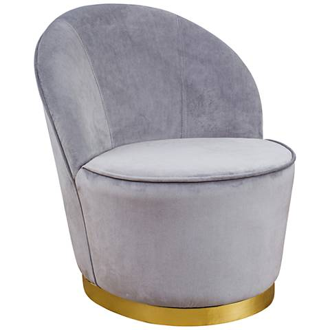 Julia Gray Velvet Junior Chair