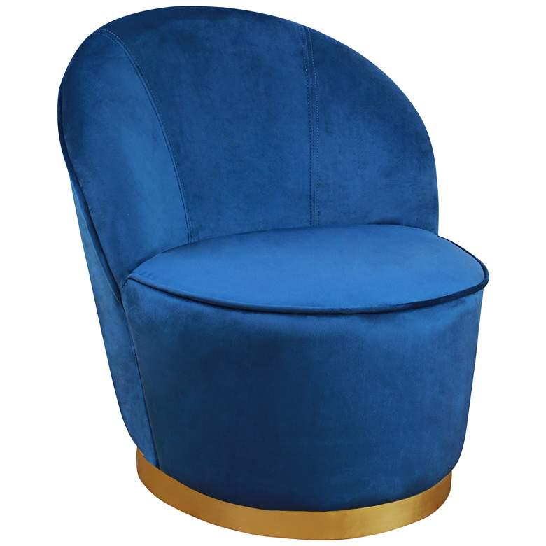 Julia Blue Velvet Junior Chair