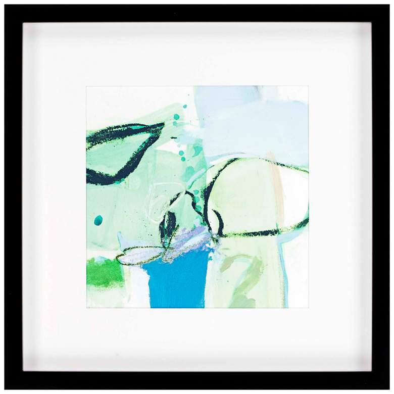 "Olive I 36"" Square Framed Giclee Wall Art"