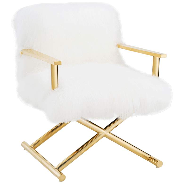 Jodi White Real Sheepskin Armchair