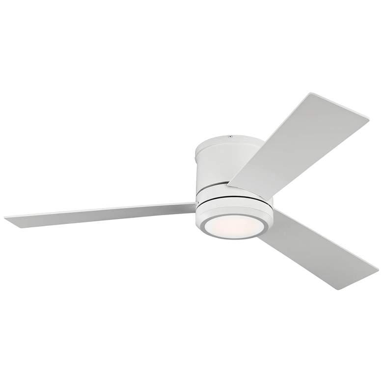 "56"" Clarity Max Rubberized White LED Damp Hugger Ceiling Fan"