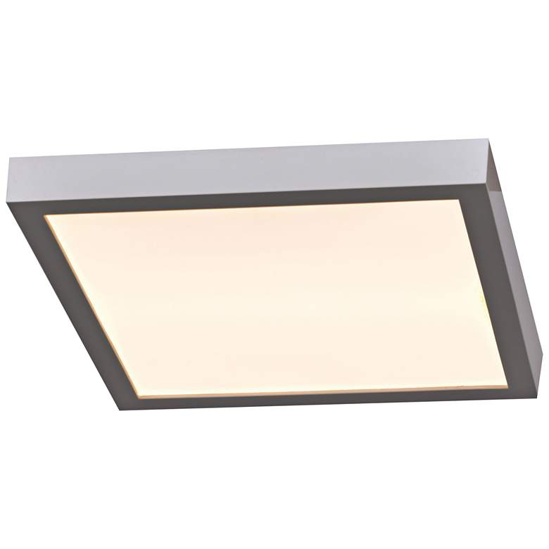 """Ulko Exterior 7"""" Wide Silver LED Outdoor Ceiling Light"""