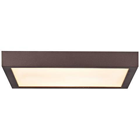 "Ulko Exterior 9"" Wide Bronze LED Outdoor Ceiling Light"