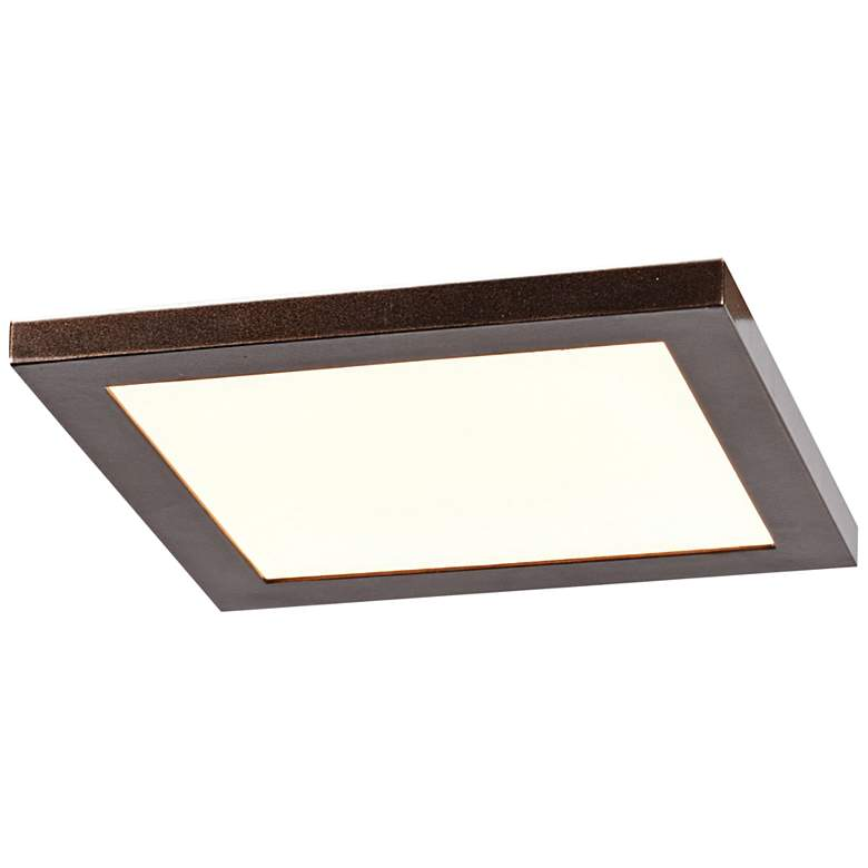 "Boxer 7 1/2"" Wide Bronze LED Ceiling Light"