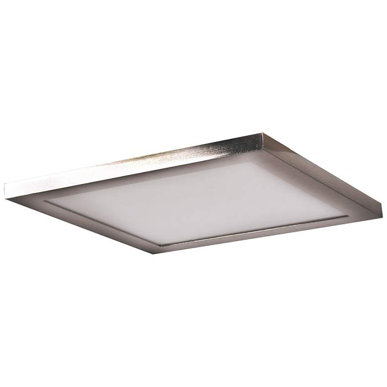 "Boxer 9 1/2"" Wide Brushed Steel LED Ceiling"