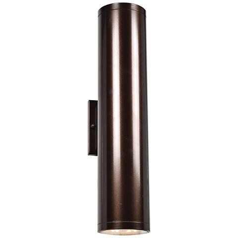 "Sandpiper 18 1/4"" High Bronze LED Outdoor Wall Light"