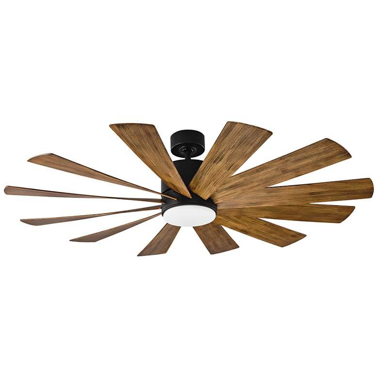 """60"""" Modern Forms Windflower Matte Black LED Wet Ceiling Fan"""