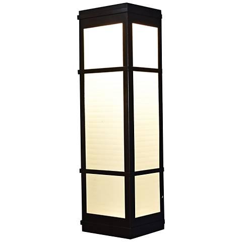 "Metropolis 16"" High Bronze LED Outdoor Wall Light"