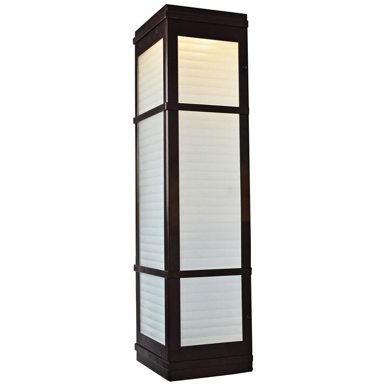 "Metropolis 20"" High Bronze LED Outdoor Wall Light"