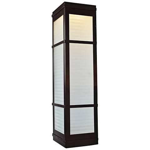 "Metropolis 20"" High Bronze LED Outdoor Wall Light"