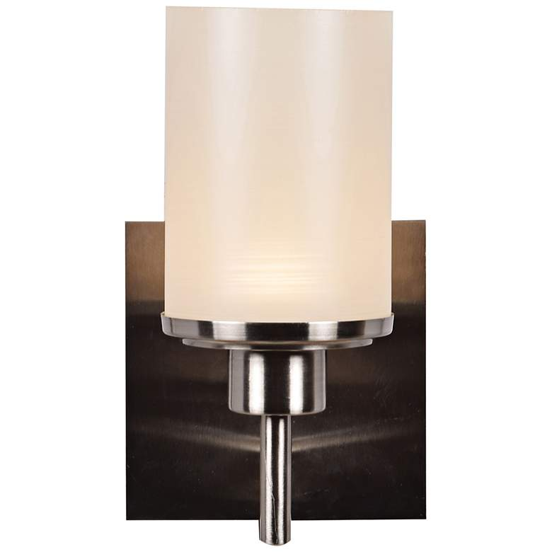 "Perch 9 1/4"" High Brushed Steel LED Wall Sconce"
