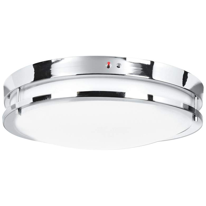 """Solero 12"""" Wide Chrome LED Ceiling Light"""