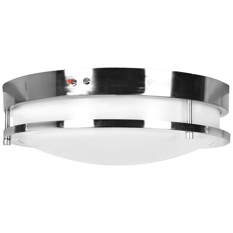 "Solero 18"" Wide Brushed Steel LED Ceiling Light"