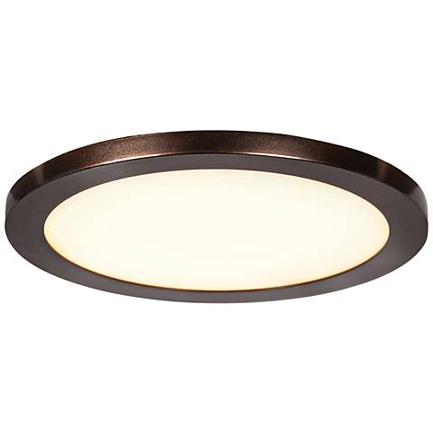 """Disc 7 1/2"""" Wide Bronze Round LED Ceiling Light"""