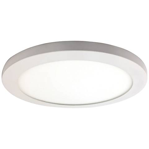 """Disc 9 1/2"""" Wide White Round LED Ceiling Light"""