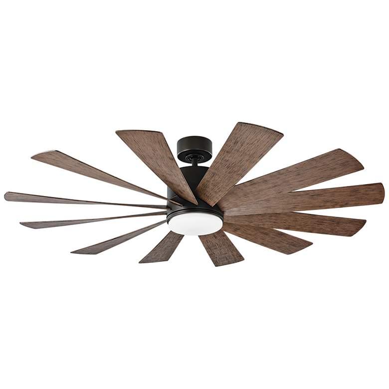 """60"""" Modern Forms Windflower Bronze Wet LED Ceiling Fan"""