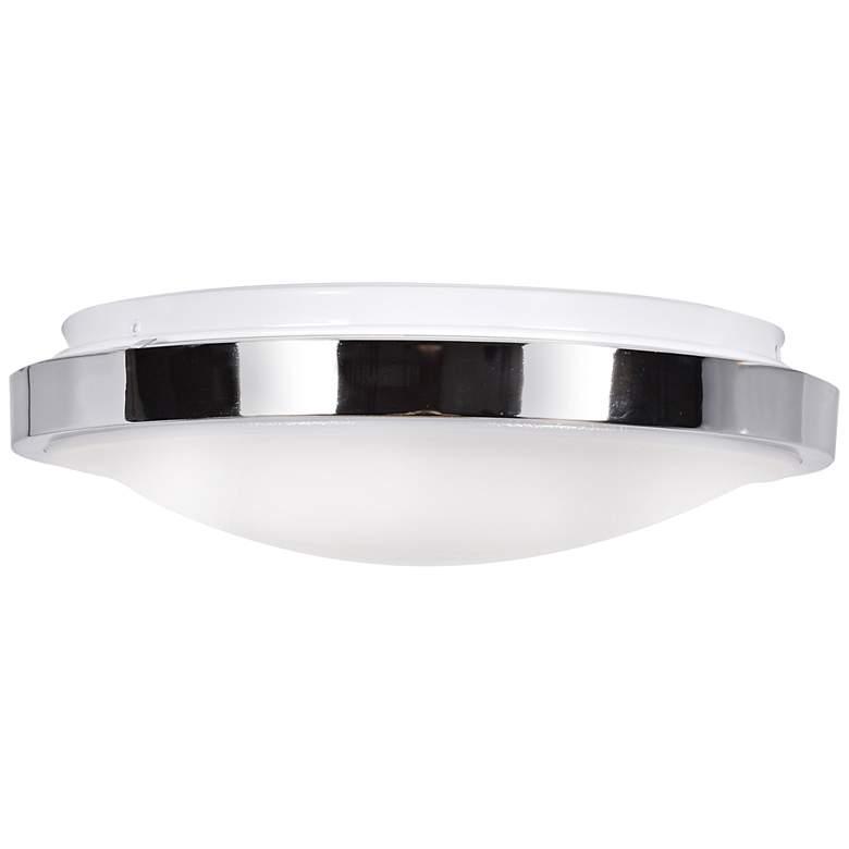 """Lucid 11 3/4"""" Wide Chrome LED Ceiling Light"""