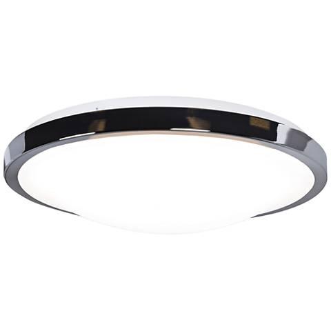 """Lucid 14"""" Wide Chrome LED Ceiling Light"""