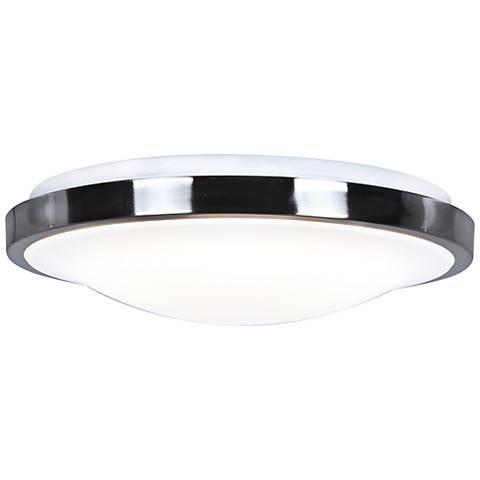 """Lucid 16"""" Wide Chrome LED Ceiling Light"""