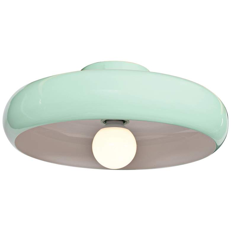"Bistro 15 3/4"" Wide Mint Green LED Ceiling Light"