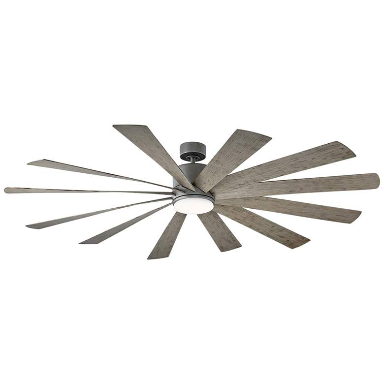 "80"" Modern Forms Windflower Graphite LED Wet Ceiling Fan"