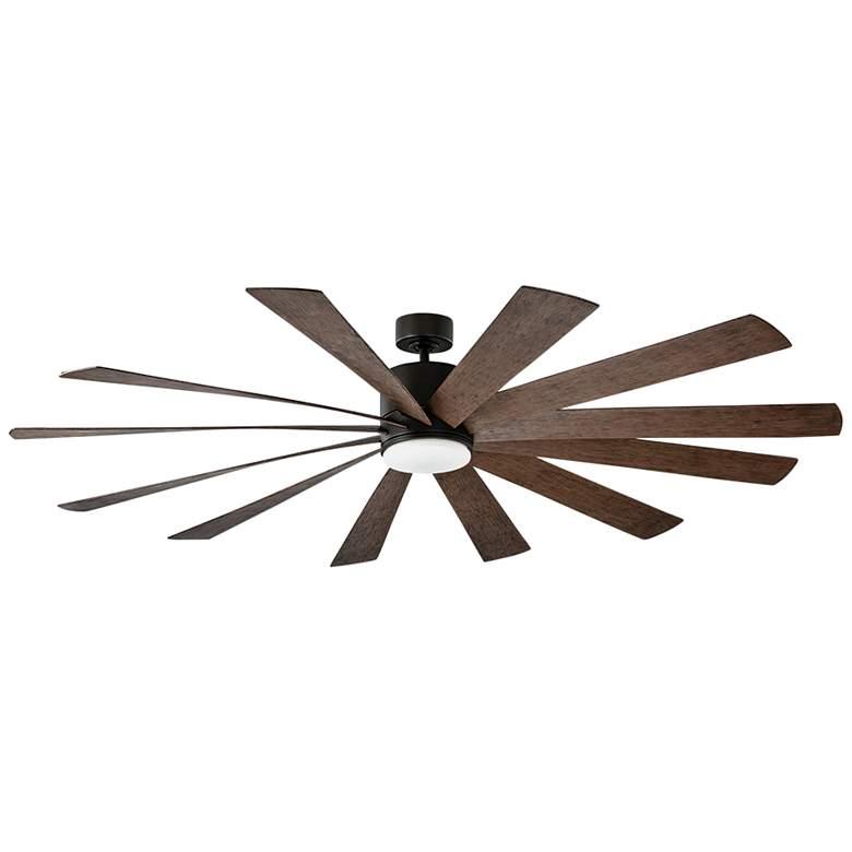 """80"""" Modern Forms Windflower Bronze LED Wet Ceiling Fan"""