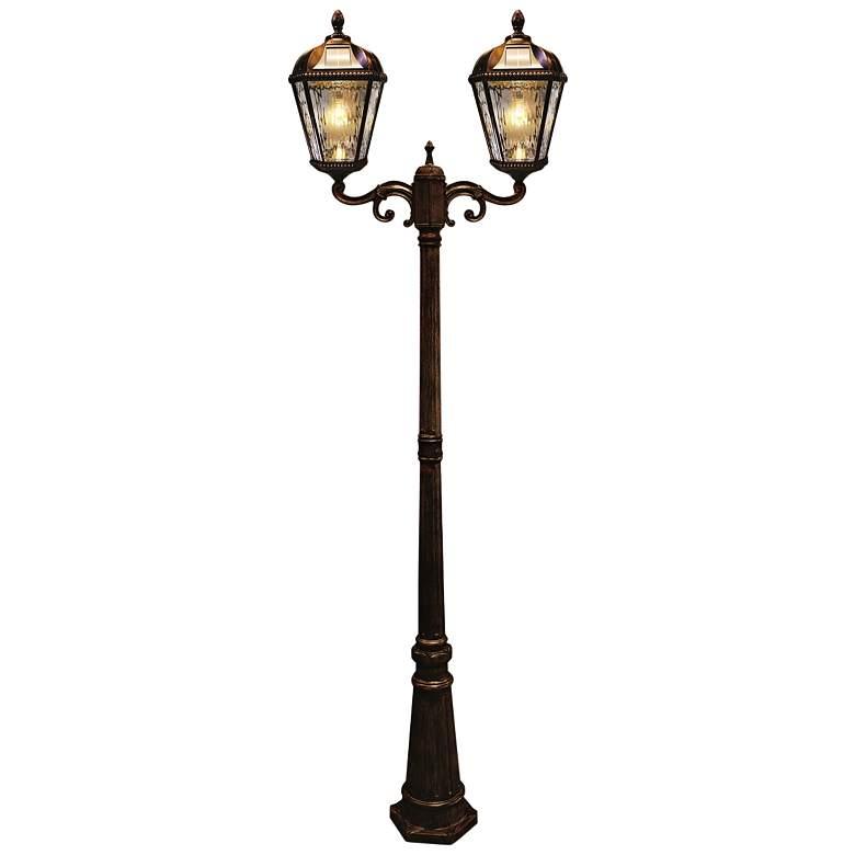"Royal Bulb 89""H Brushed Bronze Solar LED Outdoor Post Light"
