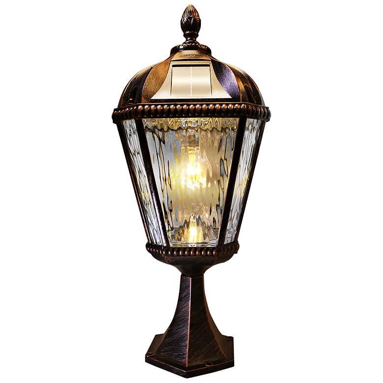 "Royal Bulb 23""H Brushed Bronze Solar LED Pier-Mount Light"