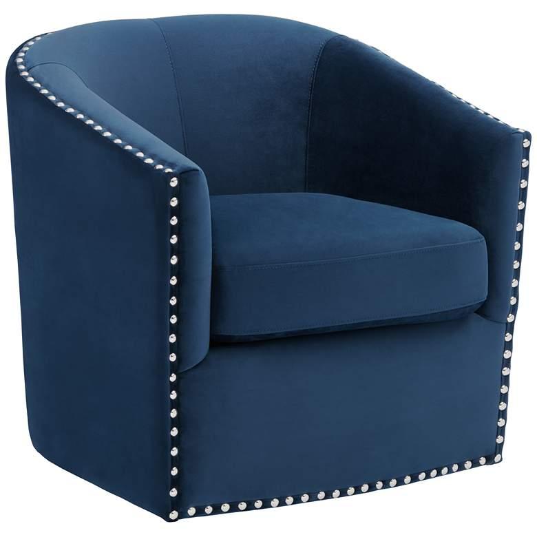 Elements Fullerton Navy Blue Swivel Chair
