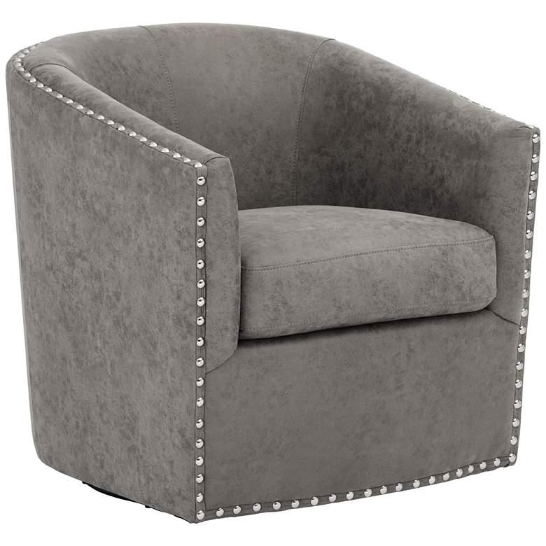 Fullerton Gray Swivel Accent Chair