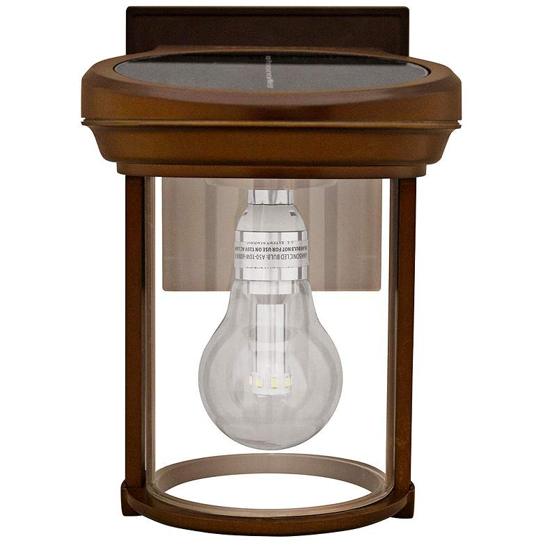 """Coach and Porch 7 1/2""""H Copper Solar LED Outdoor Wall Light"""