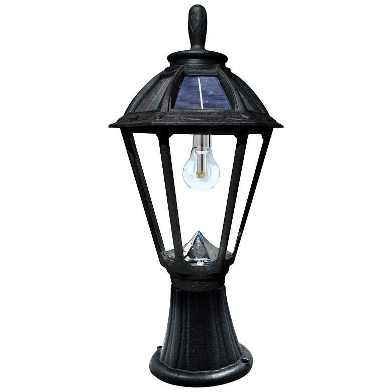 "Polaris 19 1/4"" High Black Solar LED Outdoor Post Light"