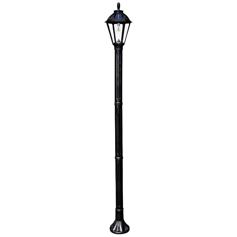 "Polaris 83 3/4"" High Black Solar LED Outdoor Post Light"
